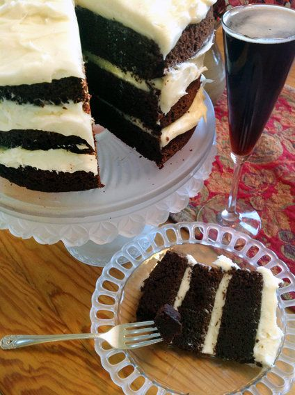 Chocolate Stout Cupcakes With Vanilla Cream Cheese Frosting Recipe ...