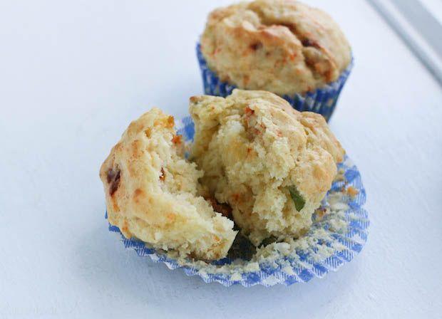 Roasted Garlic Muffins with Sun Dried Tomato & Gouda ~ #MuffinMonday