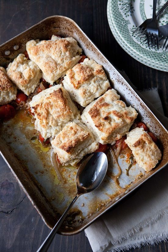 tomato cobbler with goat cheese biscuits | I could eat that part 2 ...