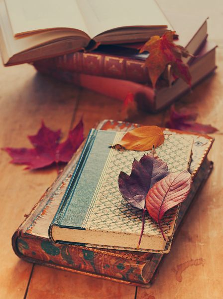 autumn and old books