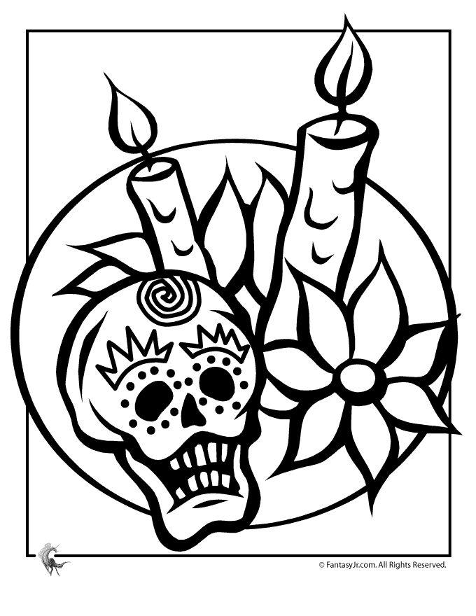 Day Of The Dead Coloring Page D 237 A De Los Muertos Y M 225 S Day Of The Dead Coloring Pages