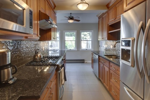 Another Narrow Kitchen Layout For The Home Pinterest