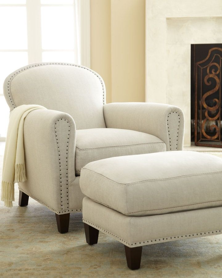 lee brussels linen chair and ottoman dream houses