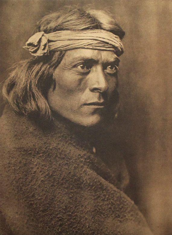 5 North American Indians Curtis Prints, Zuni Native .