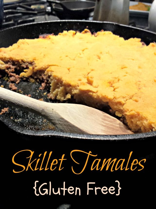 Ground beef skillet tamales - and easy weeknight dinner recipe that is naturally gluten free and dairy free.