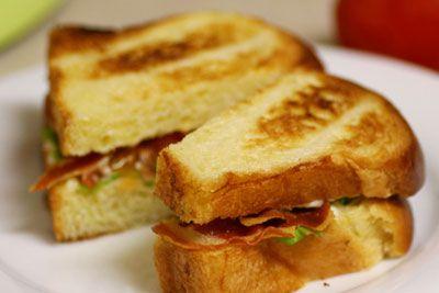 Pancetta, Mizuna, And Tomato Sandwiches With Green Garlic ...