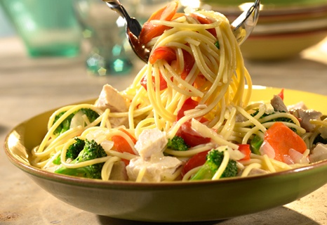 turkey primavera (would also be good with chicken and/or peppers)