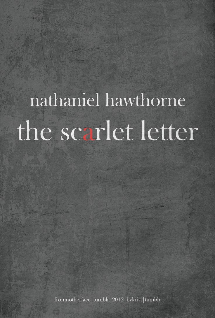 "Nathaniel Hawthorne's ""The Scarlet Letter"" - Book Cover Redesign"
