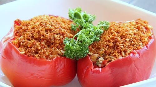 Vegetarian stuffed peppers   Vegetarian   Pinterest