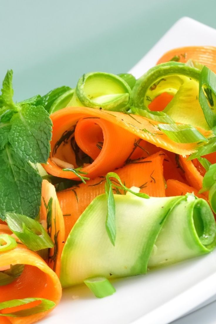 Carrot, Zucchini, Squash Ribbons with Parsley & Lime: quick & easy # ...