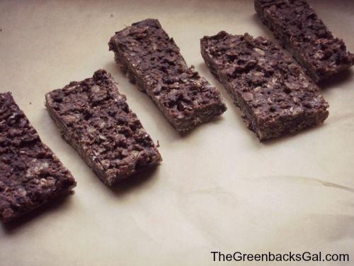 Homemade No-Bake Chocolate Almond Granola Bars Whole Food Snack Recipe ...