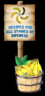 Banana recipes for all stages of ripeness.