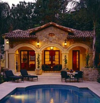 Great elevation for casita pool house dream home pinterest for Great pool houses
