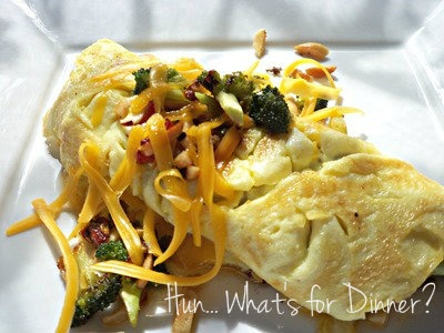 broccoli and cheese omelet | Breakfast ideas | Pinterest