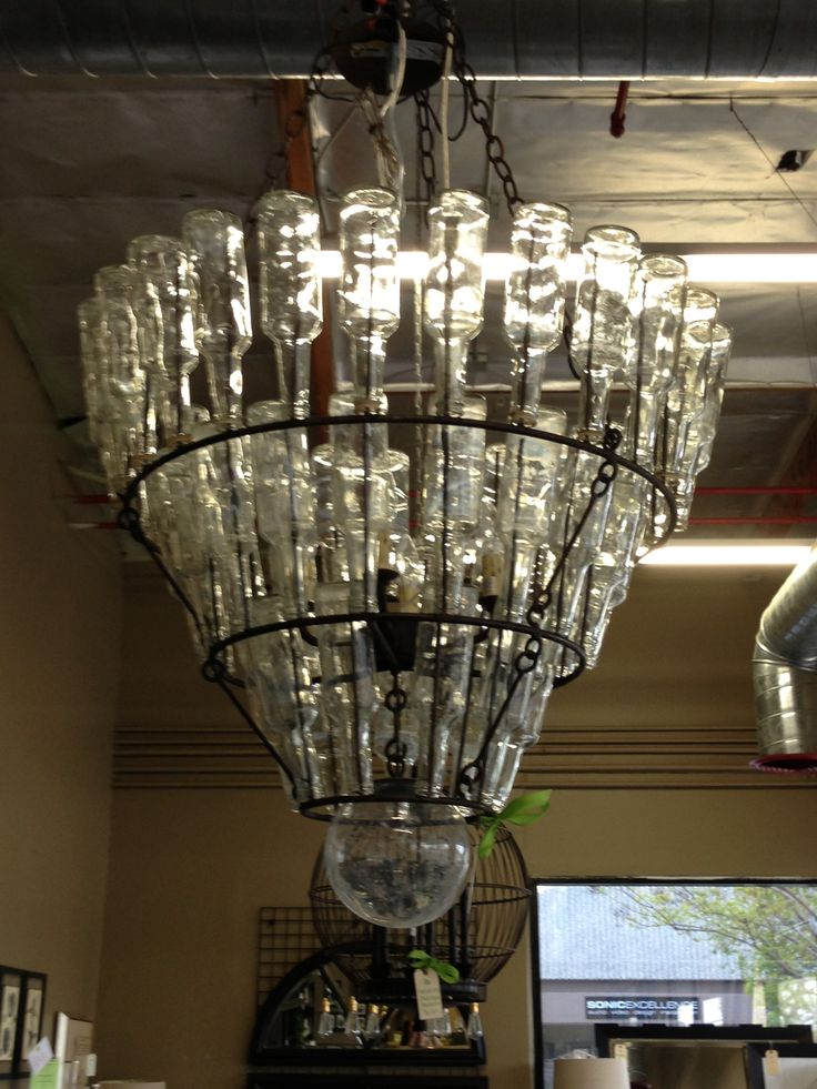 chandelier beer bottle diy lighting pinterest