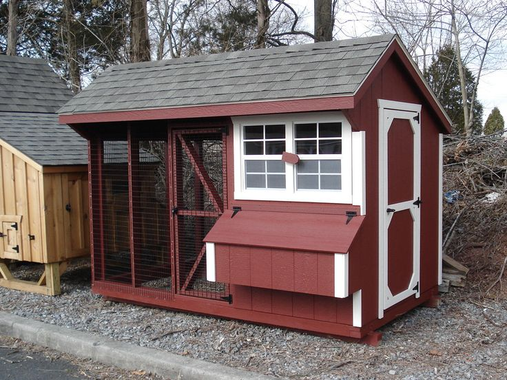 Pinterest for Red chicken coop