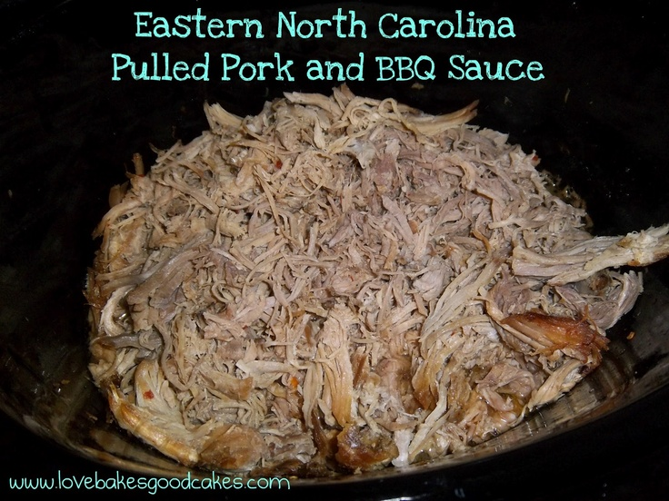 Love Bakes Good Cakes: Eastern NC Pork and BBQ Sauce. This is what the ...