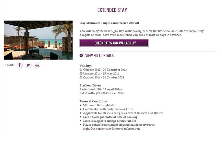 Six Senses Zighy Bay | Stay Minimum 5 nights and receive 20% off