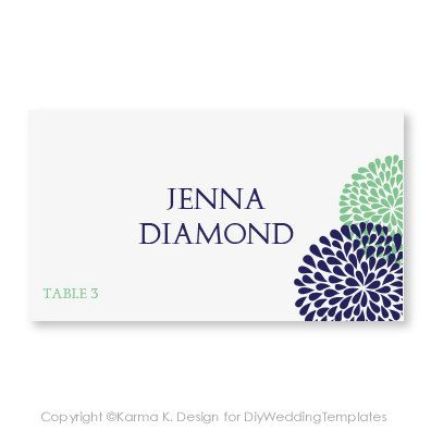 wedding place card tent card template download instantly editable text chrysanthemum
