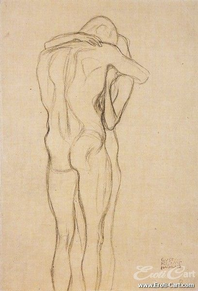 Embracing Couple (Study for Beethoven Frieze)   Artist : Gustav Klimt  Born : 18 July 1862  Died : 6 February 1918  Nationality : Austrian