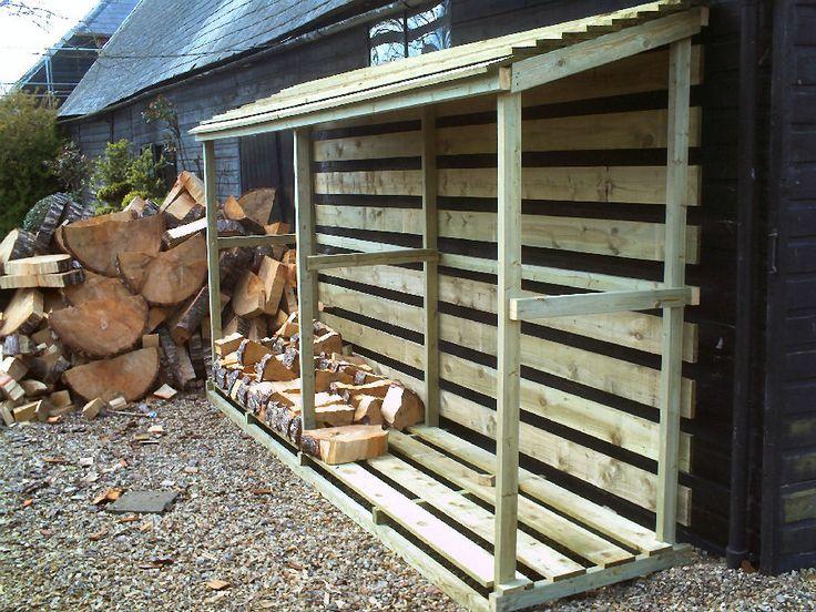 Firewood storage outdoor ideas pinterest for Log storage ideas