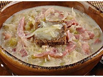 Au Gratin Reuben Soup with Ham- I need a bathtub full NOW!