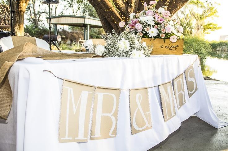 Bride Groom Wedding Table Ideas : Bride and groom table sierra s wedding