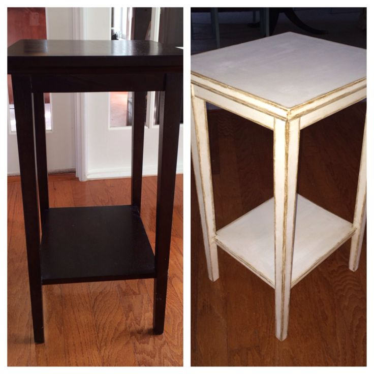 Left = before Right = after | Refinished Furniture | Pinterest
