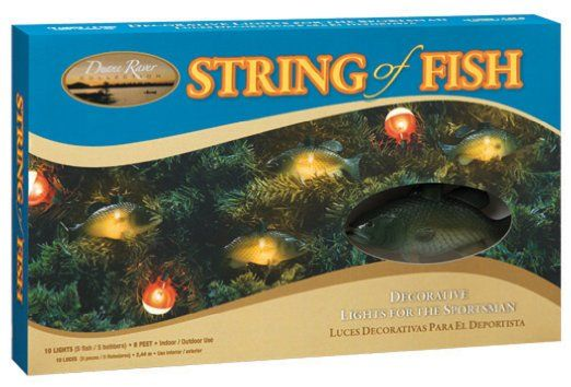 Pin by kathy herrington on camper christmas tree fishing for Fish string lights