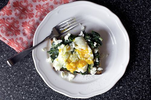 Spinach and Smashed Egg Toast | Futter: Smitten Kitchen Recipes | Pin ...