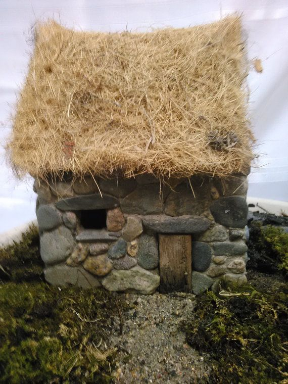 Cute decorative mini stone house by TheVillageStonemason on Etsy, $80 ...: pinterest.com/pin/305752262173692375