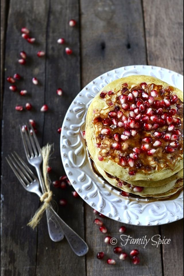Pomegranate Pancakes | Health Nut | Pinterest