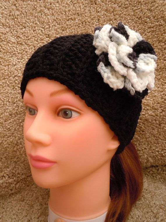 Crochet Hair Gray : ... and Blue Gray Hair Band - Crochet - JANUARY 10% SALE on Etsy, $12.00