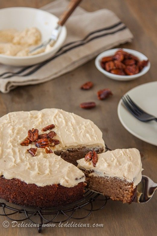 ... Banana Cake with Cinnamon Cream Cheese Frosting & Honey Roasted Pecans