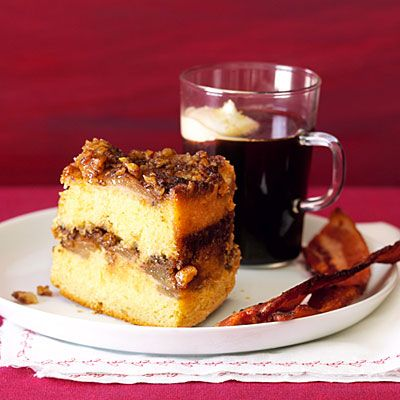 Upside-down Sour Cream Coffee Cake with Sherry-roasted Pears ...