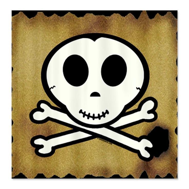 Cute skull boy pirate shower curtain cory s bath pinterest