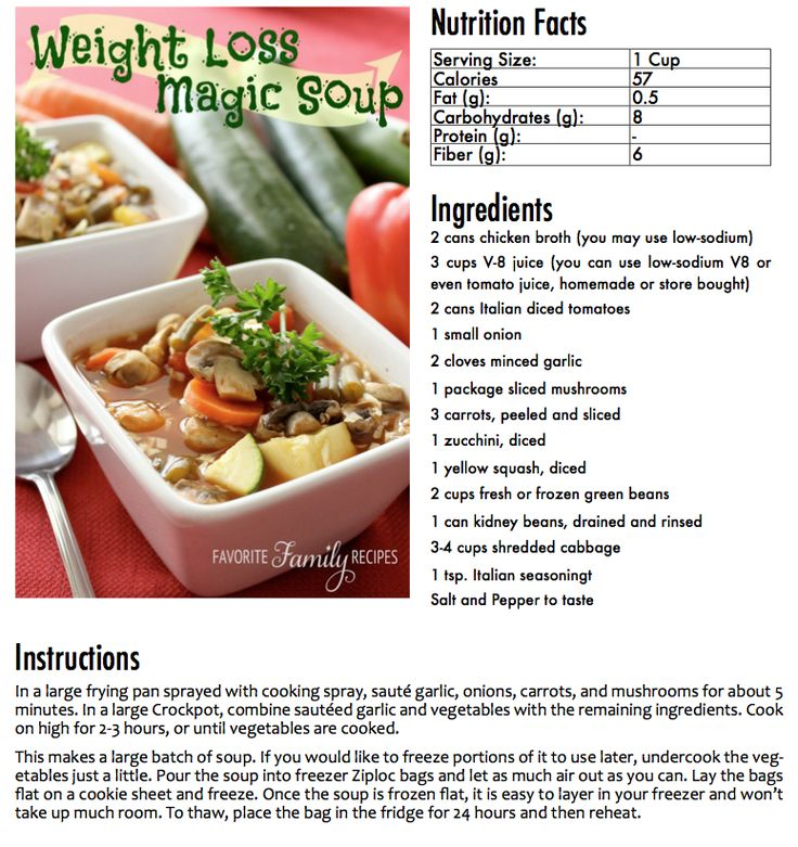 fresh vegetable soup weight loss