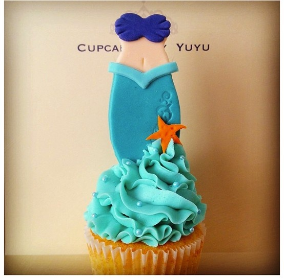 Ariel Cupcakes By YuYu #TheLittleMermaid