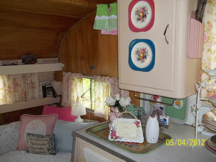 decor in vintage shasta camper glamp pinterest
