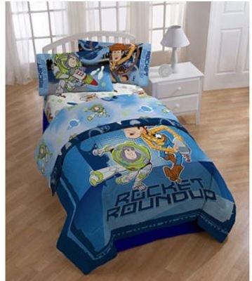 Boys disney toy story twin full reversible comforter amp twin sheet set