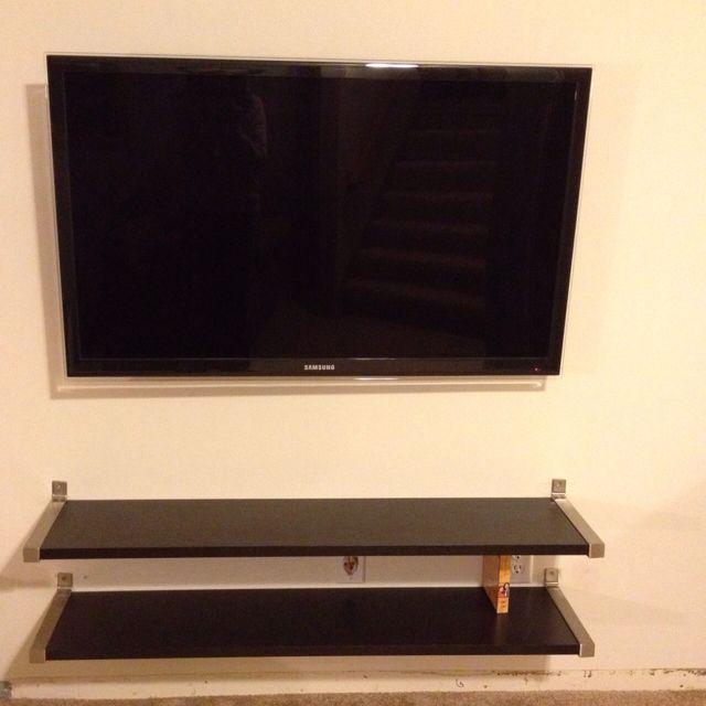 floating shelves instead of tv stand shelves