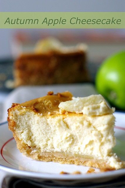 An apple a day...Autumn Apple Cheesecake | All Things Fall | Pinterest