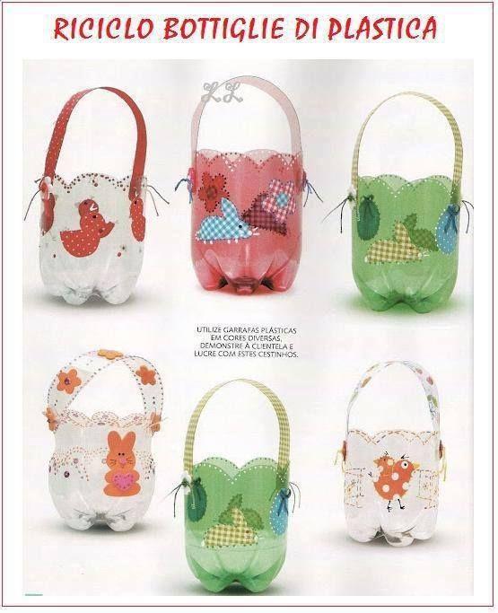 Canastas de botellas plasticas - Imagui