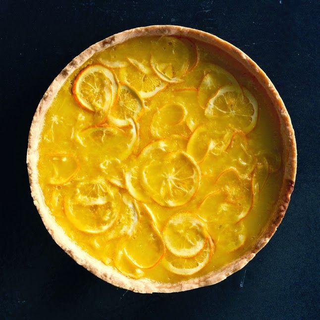 lemon & honey tart with salted shortbread crust - http ...
