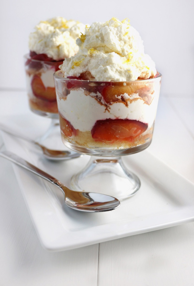 Roasted Plum Parfaits... yum!