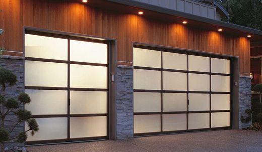 frosted glass aluminum garage door hillside drive