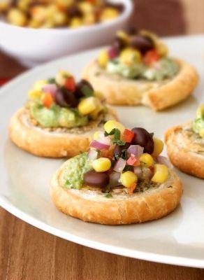 Southwestern Bruschetta Bites #appetizer #recipe