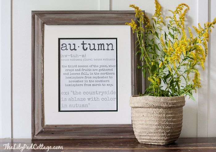 Free Fall Printable - The Lilypad Cottage