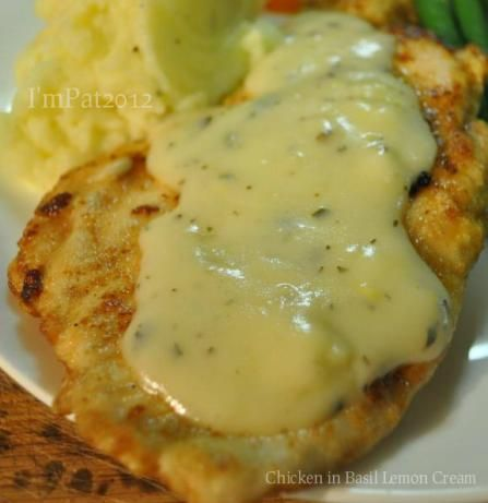 Chicken in Basil Lemon Cream | Recipe