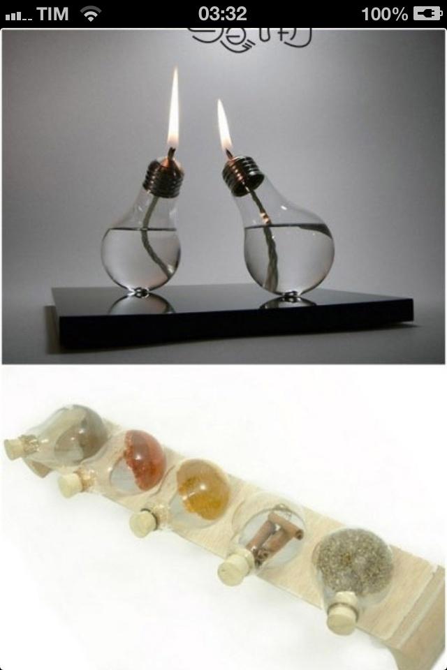Diy riciclo creativo come riciclare vecchie lampadine - Oggetti fai da te ...